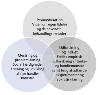 De 3 hovedstrategier i den kognitive terapi tilgang